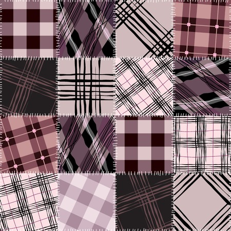 endlessly: Seamless background pattern. Will tile endlessly. Pink checkered patchwork