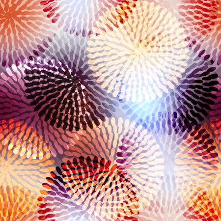 Naadloos patroon als achtergrond. Zal tegel eindeloos. Geometrische bloemen. Stock Illustratie