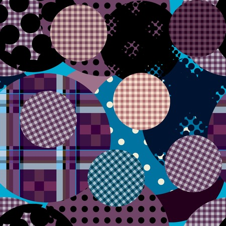 Seamless background pattern. Violet palid circles collage