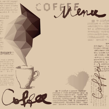 cofe: Background for cafe menu. Coffee menu. Place for text. Illustration