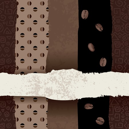 Seamless background pattern. Coffee label. This image my be used as seamless pattern.