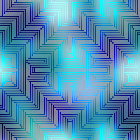 Seamless background pattern. Computer Grid Matrix pattern on blurred background.