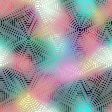circle pattern: Seamless background pattern. Circles pattern on blur background. Illustration