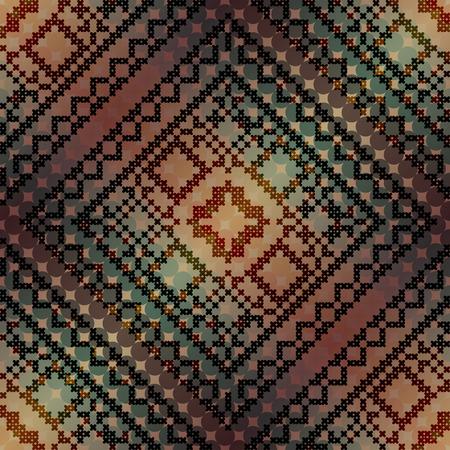 punto de cruz: Modelo incons�til del fondo. El patr�n de punto de cruz en el fondo degradado diagonal.