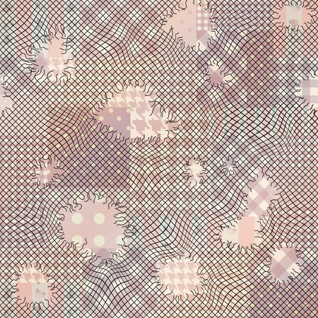endlessly: Seamless background pattern. Will tile endlessly. Holes on mesh. Illustration