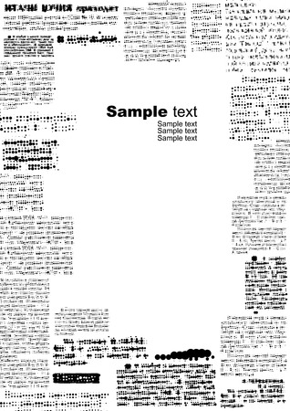 rasterized: Vector vertical background. Imitation of newspaper, text rasterized. Illustration