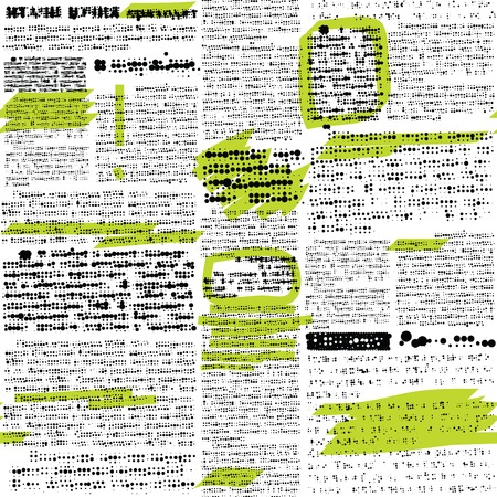 unreadable: Seamless background pattern. Imitation of newspaper with a notes Illustration