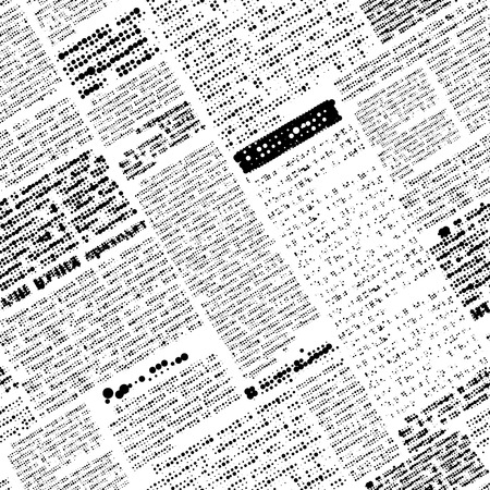 Seamless background pattern. Will tile endlessly. Imitation of newspaper, rasterized text, unreadable. The inclination of 30 degrees