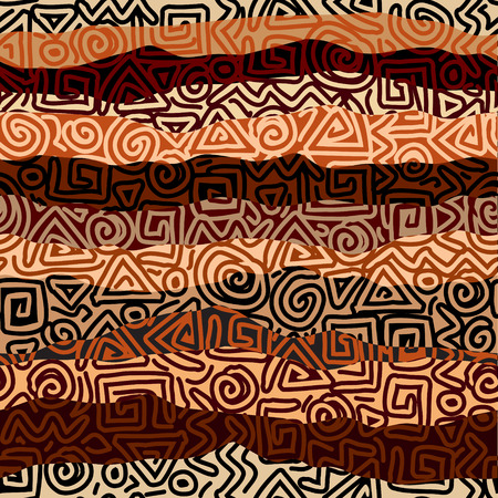 Seamless background pattern. Ethnic strikes pattern in blrown colors