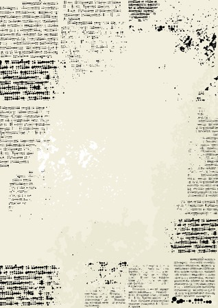 Bordered Background. Imitation of newspaper with grunge effect