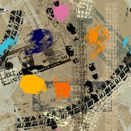 Seamless background pattern. Grunge dirty pattern with fingerprints