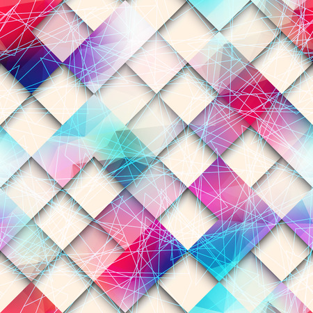 continuity: Seamless background pattern. Abstract geometric pattern of squares.