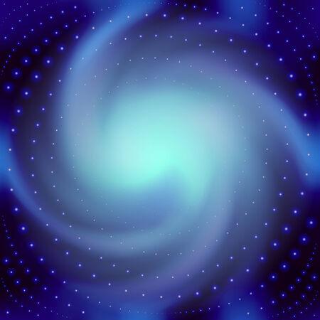 Abstracte blauwe achtergrond voor tekst met een spatie spiraal.