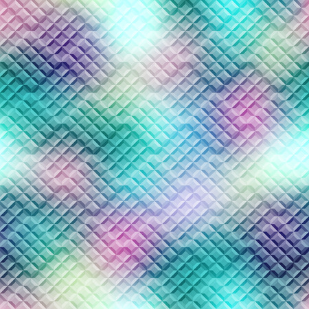 staggered: Seamless background pattern. Diagonal green mosaic staggered.