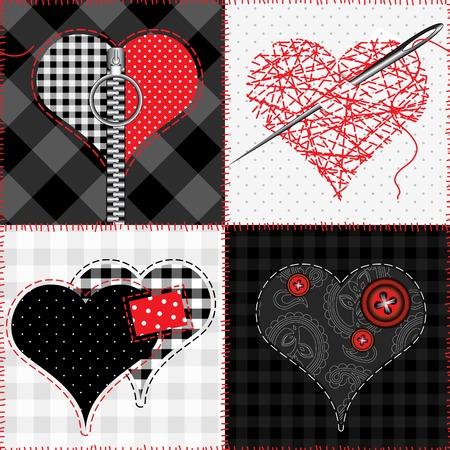 Pattern di sfondo senza soluzione di continuità. Mosaico con il cuore. Archivio Fotografico - 35263917