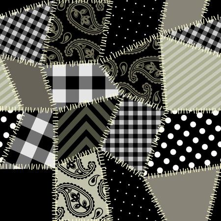 シームレスな背景パターン。延々 と並べては。パッチワーク パターン。  イラスト・ベクター素材