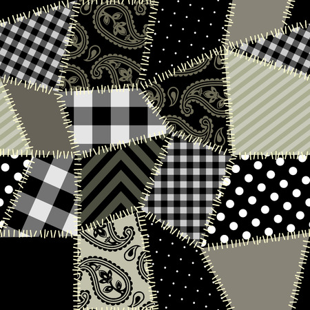 Seamless background pattern. Will tile endlessly. Patchwork pattern.