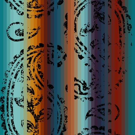 continuity: Seamless background pattern. Will tile endlessly. Grunge decorative ornament on the striped background