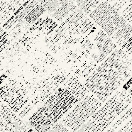 Seamless background pattern. Imitation of grunge newspaper Vettoriali