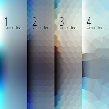 Antecedentes de la infografía de texto paso a paso. Se puede utilizar como patrón. Vectores