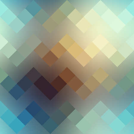 Seamless background pattern. Textured pixels chevron pattern on blurred background. 向量圖像