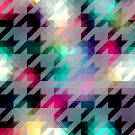 houndstooth: Seamless background pattern. Houndstooth pattern on abstract triangles background.