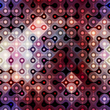 are joined: Seamless background pattern. Joined balls pattern on geometric background.
