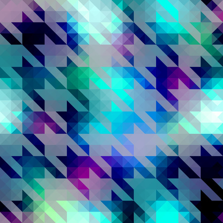 houndstooth: Seamless background pattern. Houndstooth pattern on blue geometric background.