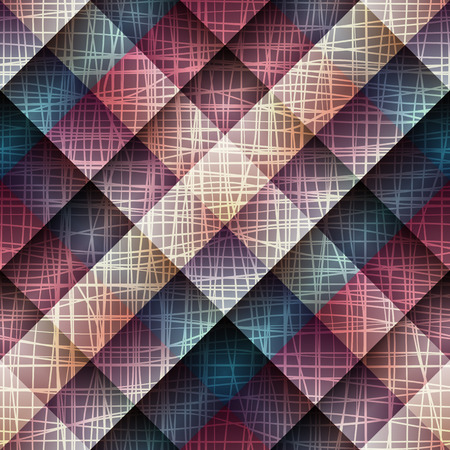 hessian: Seamless background pattern. Canvas texture on plaid background. Illustration