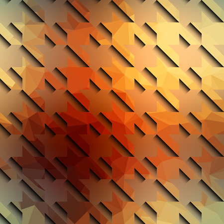 surfaces: Hounds-tooth seamless pattern of different surfaces in orange color.