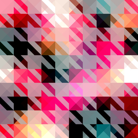 quilt: Seamless background pattern. Houndstooth pattern on abstract geometric background.