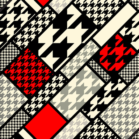 Seamless background pattern. Diagonal geometric pattern fron houndstooths patterns.