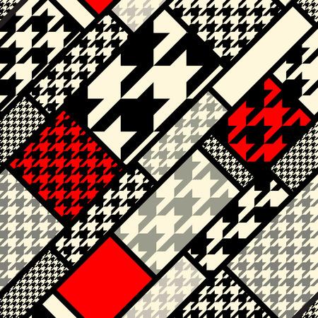 Seamless background pattern. Diagonal geometric pattern fron houndstooths patterns.