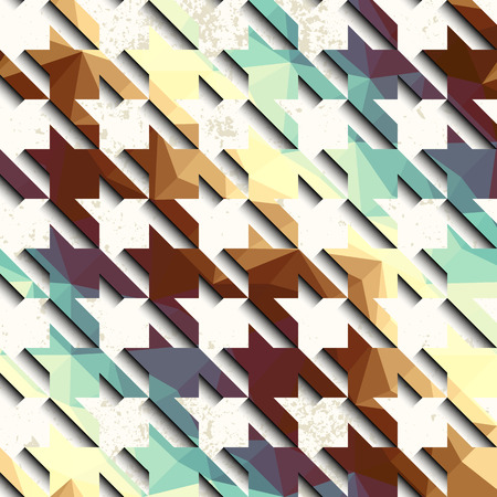 houndstooth: Seamless background pattern. Hounds-tooth pattern on grunge background. Illustration