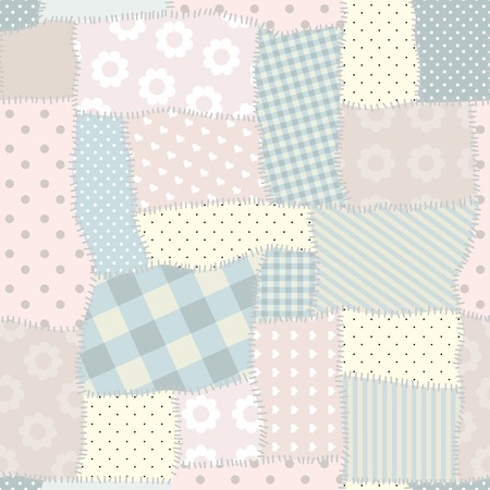 Seamless patchwork pattern. Patchwork in light colors.