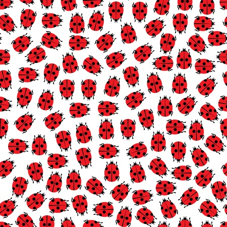 endlessly: Seamless background pattern. Will tile endlessly. Ladybirds pattern