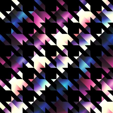 houndstooth: Houndstooth pattern on black background