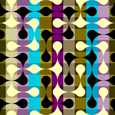 continuity: Abstract geometric pattern on plaid background. Seamless background pattern.