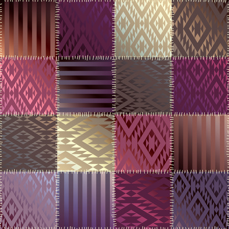 satin: Seamless background pattern. Patchwork of satin fabric.