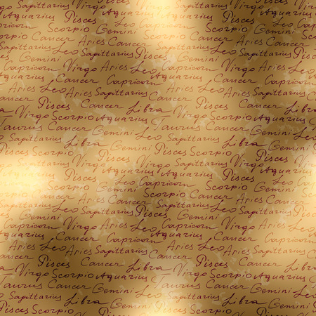 adivino: Modelo incons�til del fondo. Fondo manuscrito de nombres de signos de zodiacs.