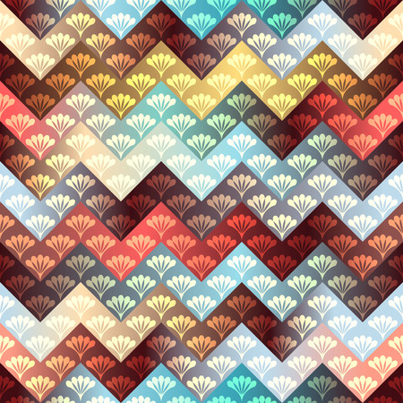 Seamless background pattern. Chevron pattern with decorative ornament.
