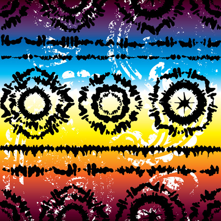 Seamless background pattern. Pattern in hippy style