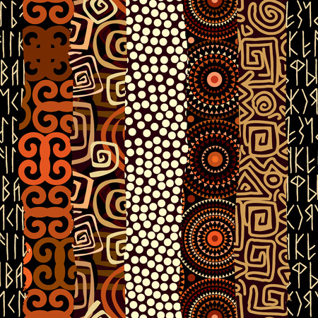 Seamless background pattern. Abstract tribal ethnic pattern