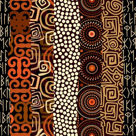 Naadloos patroon als achtergrond. Abstracte tribal etnische patroon