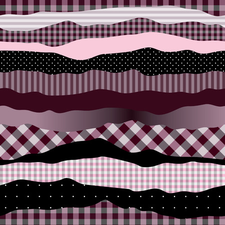 endlessly: Waves pink collage. Seamless background pattern. Will tile endlessly.