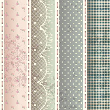 Seamless background pattern. Pattern in shabby chic style.