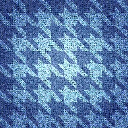 Seamless background pattern. Texture of denim fabric. 向量圖像