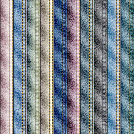 Naadloos patroon als achtergrond. Patchwork met denim stof patches.