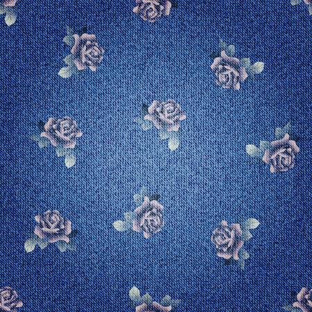 Seamless background pattern. Texture of denim fabric.  イラスト・ベクター素材