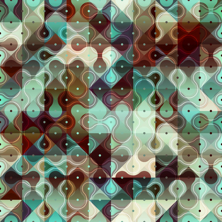 Seamless background pattern. Geometric droplet pattern with polka dot.